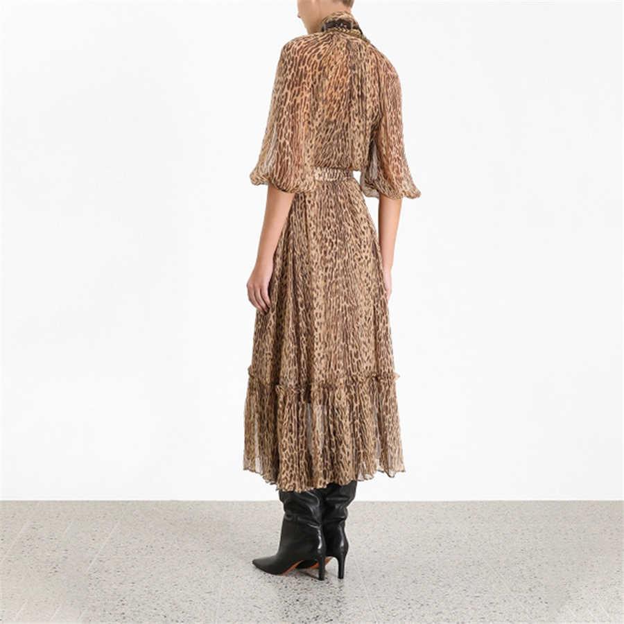 Высококачественное женское модное платье с леопардовым узором 2019, женское платье с рукавом три четверти, тонкое модное пикантное платье vestidos