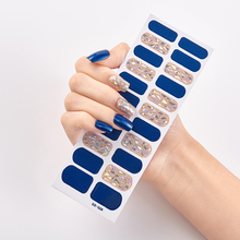 Nail-Sticker-Set Art-Decoration Patterned 22-Tips/sheet Designer And Solid DIY Novidades