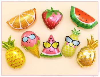 Fruit Foil Balloon Peach Watermelon Kiwi Strawberry Orange Pineapple Summer Hawaii Tropical Party Decoration Supplies