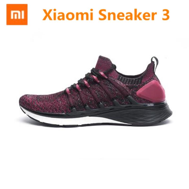 Nouvelle Xiaomi Mijia Sneaker 3 chaussures de course 3 Uni-moulage 2.0 système de verrouillage en os de poisson élastique tricot Vamp semelle absorbant les chocs