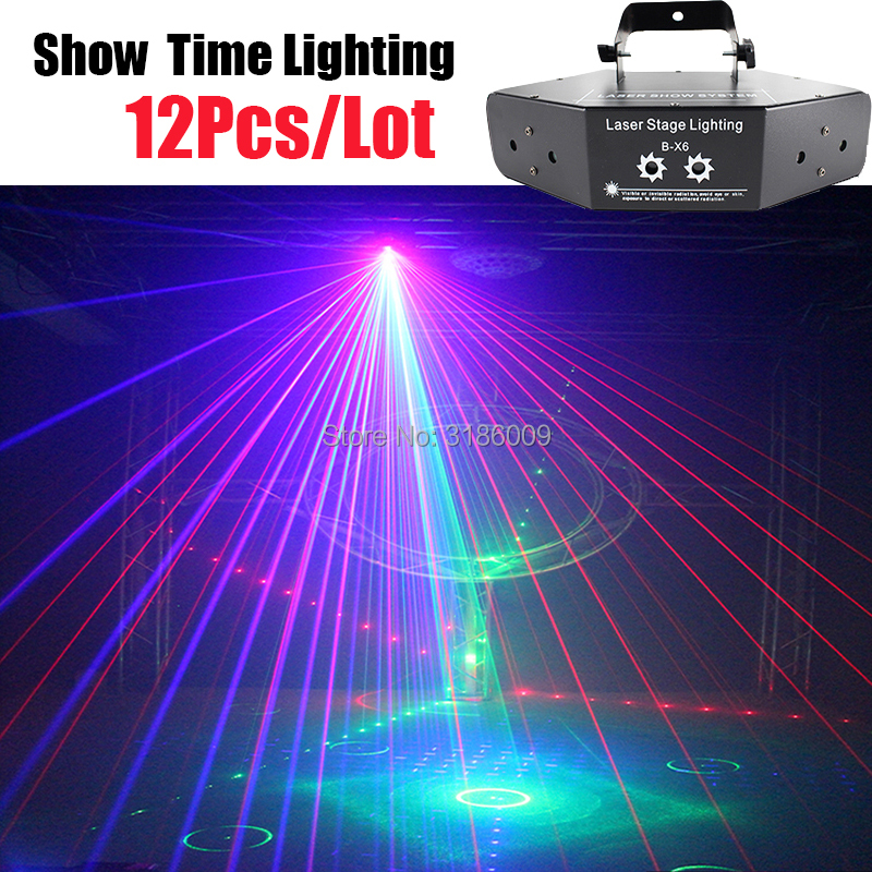 Very Cost Effective 12Pcs/Lot Dsico Laser Beam Patterns Scanner Light Use For Home Party DJ Stage Lighting KTV Show Sector Laser