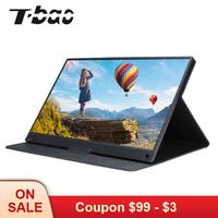 T bao T15A Portable Monitor 1920x1080 HD IPS 15.6 inch Display Computer LED Monitor with Leather Case for PS4/Xbox/Phone