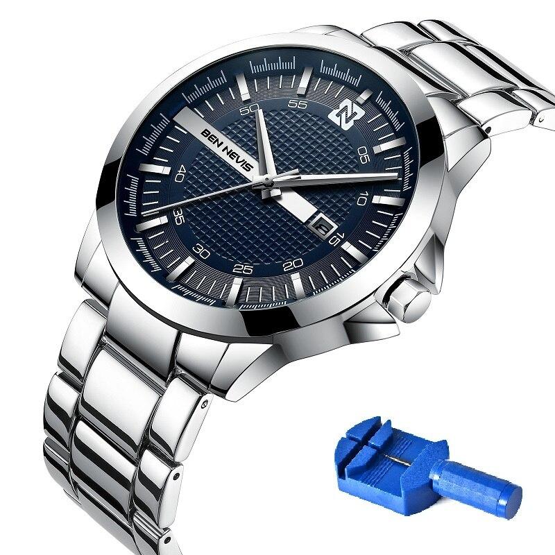 Мужские Водонепроницаемые наручные часы Бен-невирас автоматической датой из нержавеющей стали, мужские часы, часы Relojes, Фабричный магазин, ...