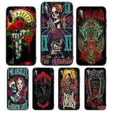 Skull Band Horror Rock Band etui Phone Case For Huawei P Y Nova mate 20 30 10 40 pro lite smart Cover Fundas Coque