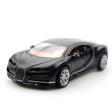 1:36 Diecast Doors-open Toy Car Bugatti Supercar High Simulation Alloy Diecast Car Model Pull Back Collection For Children Gifts aston martin db9 coupe 1 18 car model welly fx original collection alloy diecast sports car supercar boy luxury cars simulation