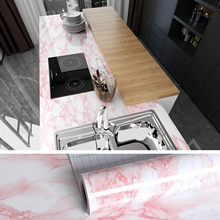 DIY Decorable Film PVC Self Adhesive Sticky to Tables Countertop Marble Waterproof Wallpapers PVC Kitchen Cabinets Wall Stickers