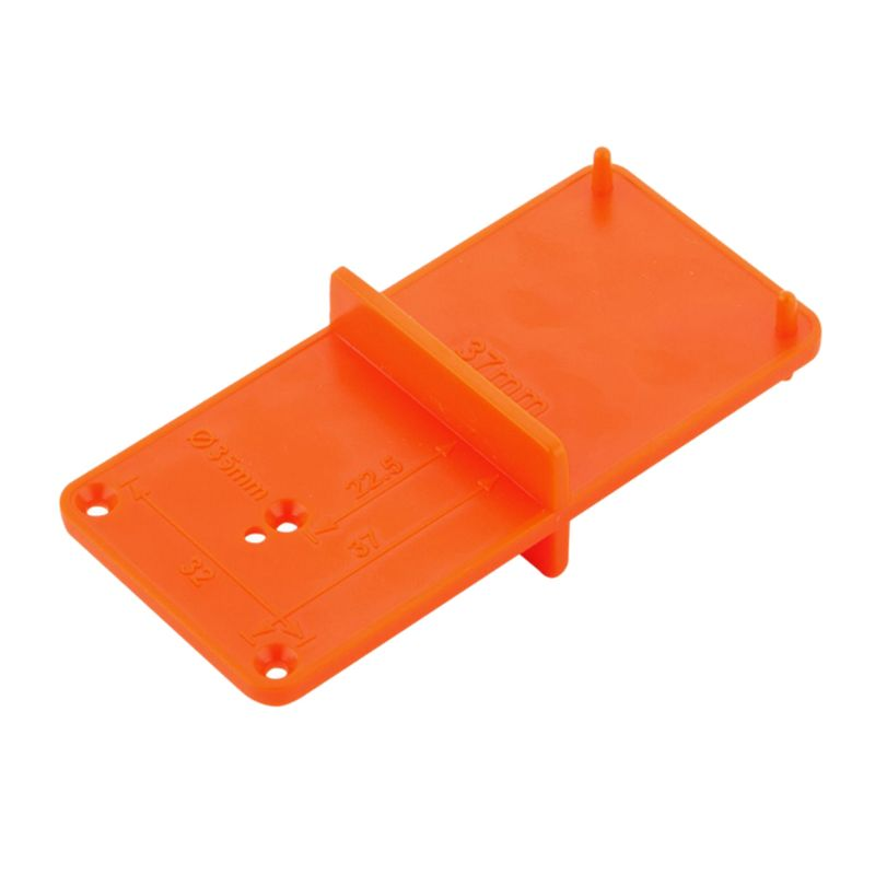 35mm 40mm Hinge Hole Drilling Guide Locator Hole Opener Template Door Cabinets DIY Tool For Woodworking Tool 83XA