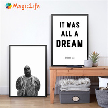 Biggie Smalls Rap Lyrics Wall Art Canvas Painting The Notorious BIG Pictures Home Decoration Posters Unframed
