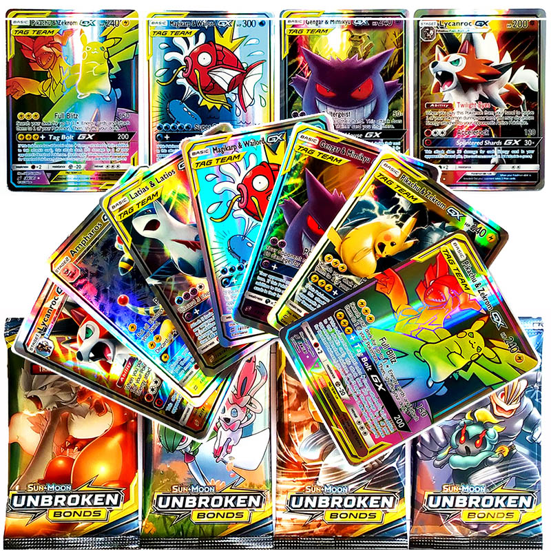 TAKARA TOMY Shining Pokemon Flash Cards TCG MEGA GX EX Energy Trainer Energy Battle Trading Card Game For Kids Christmas Gifts