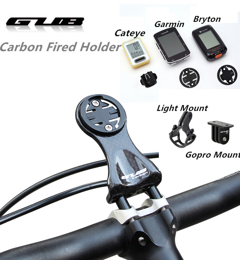 GUB 693 <font><b>Carbon</b></font> Fibre Cycle Computer <font><b>handlebar</b></font> Holder <font><b>Bike</b></font> Hold Table Bracket MTB <font><b>Road</b></font> Bicycle <font><b>Stem</b></font> Lamp Mount 16g image