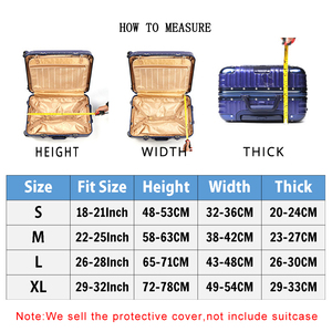 Image 2 - Elastic Travel Luggage Cover Dustproof Protective Travel Suitcase Cover For 18 32 Inch Trolley Bag Case Luggage Accessories