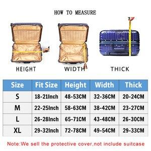 Image 2 - Thun Du Lịch Hành Lý Nắp Chống Bụi Bảo Vệ Vali Du Lịch Dành Cho 18 32 Inch Xe Đẩy Túi Hành Lý Phụ Kiện