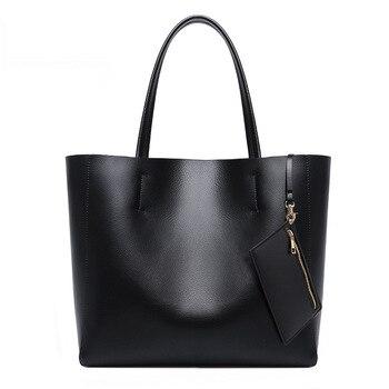 New Style Fashion Genuine Leather Large Bag Tote Bag Women's Large Capacity Handbag