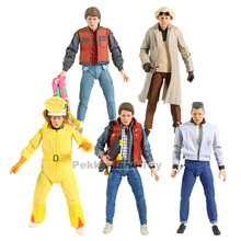 Action-Figure Model-Toy Collectible Marty Mcfly Doc Brown NECA Back-To-The-Future 7--Scale