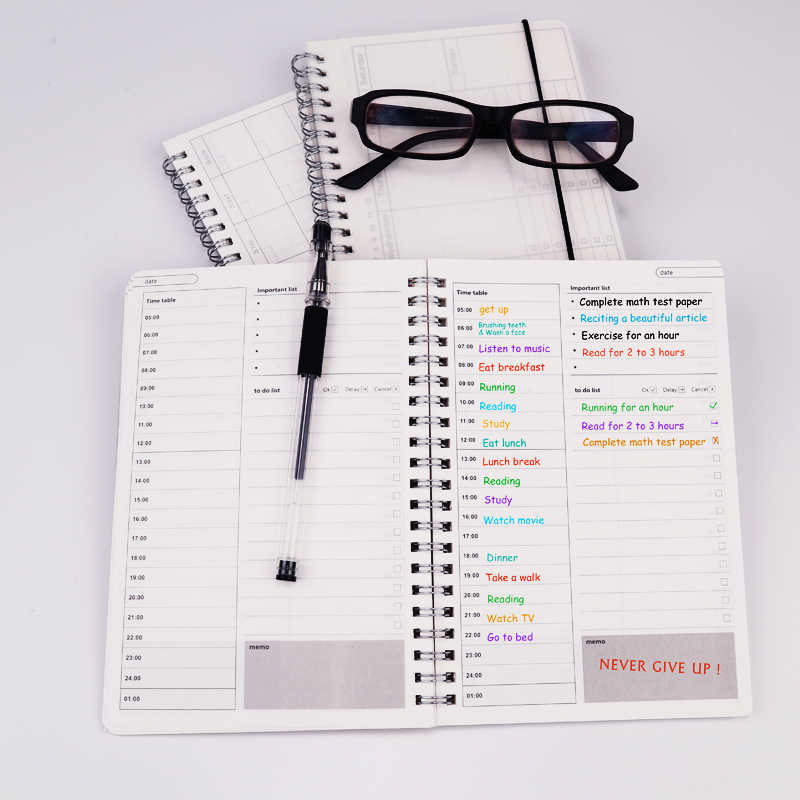2019 2020 cahiers Agenda quotidien hebdomadaire mensuel Plan spirale organisateur A5 carnets de notes calendrier mensuel Transparent