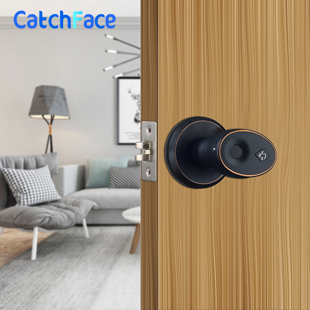 Image 1 - Zinc Alloy Stainless Biometric Fingerprint  Door Lock  Security Cylinder Door Lock   Waterproof Electronic Door Lock-in Electric Lock from Security & Protection