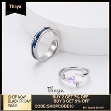 Thaya Falling Loveแหวนคู่ปรับ925 Silver Chromaticแหวนสำหรับผู้หญิงหมั้นของขวัญ