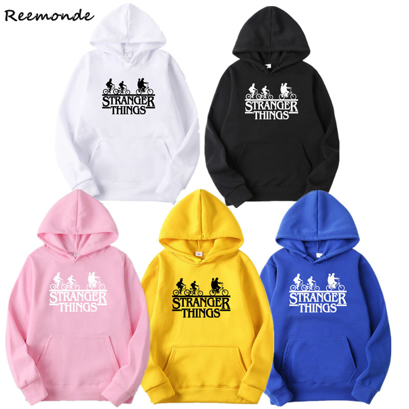Nancy Wheeler Dustin Stranger Things Hoodie Sweatshirt Letter Printed Eleven Tshirt Girls Hip Hop Sweatshirt Man Hoodies Men
