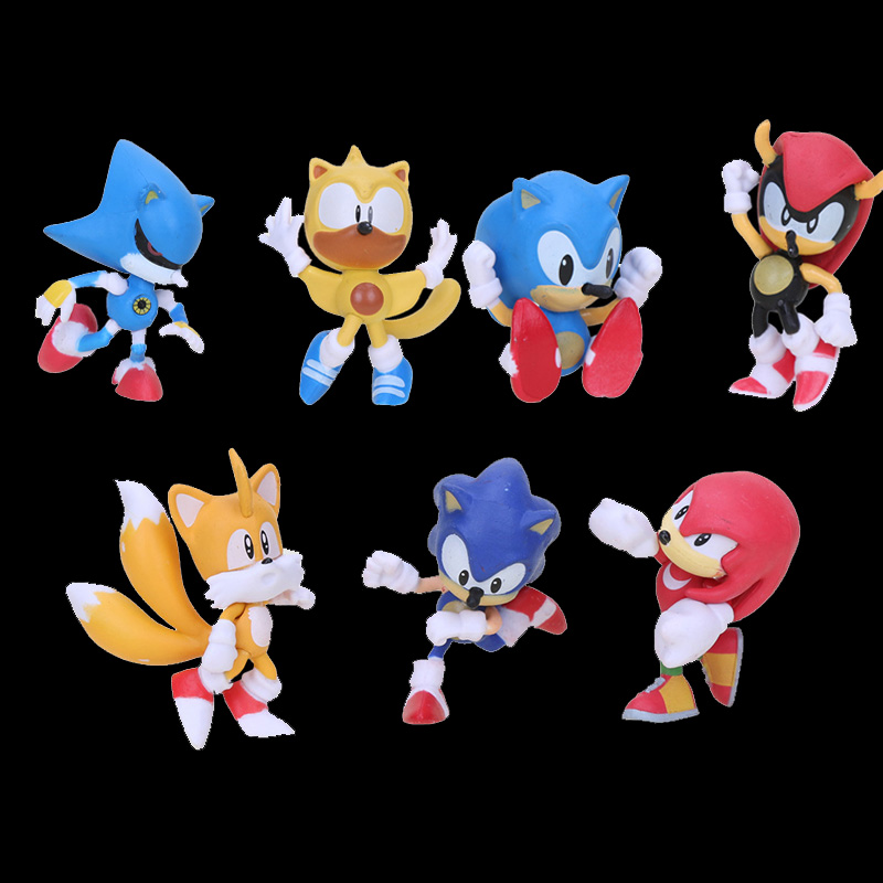 7pcs Set Sonic The Hedgehog Figure Super Sonic Figure Shadow Tails Toys For Children Toys Sonic The Hedgehog Keychain Action Toy Figures Aliexpress