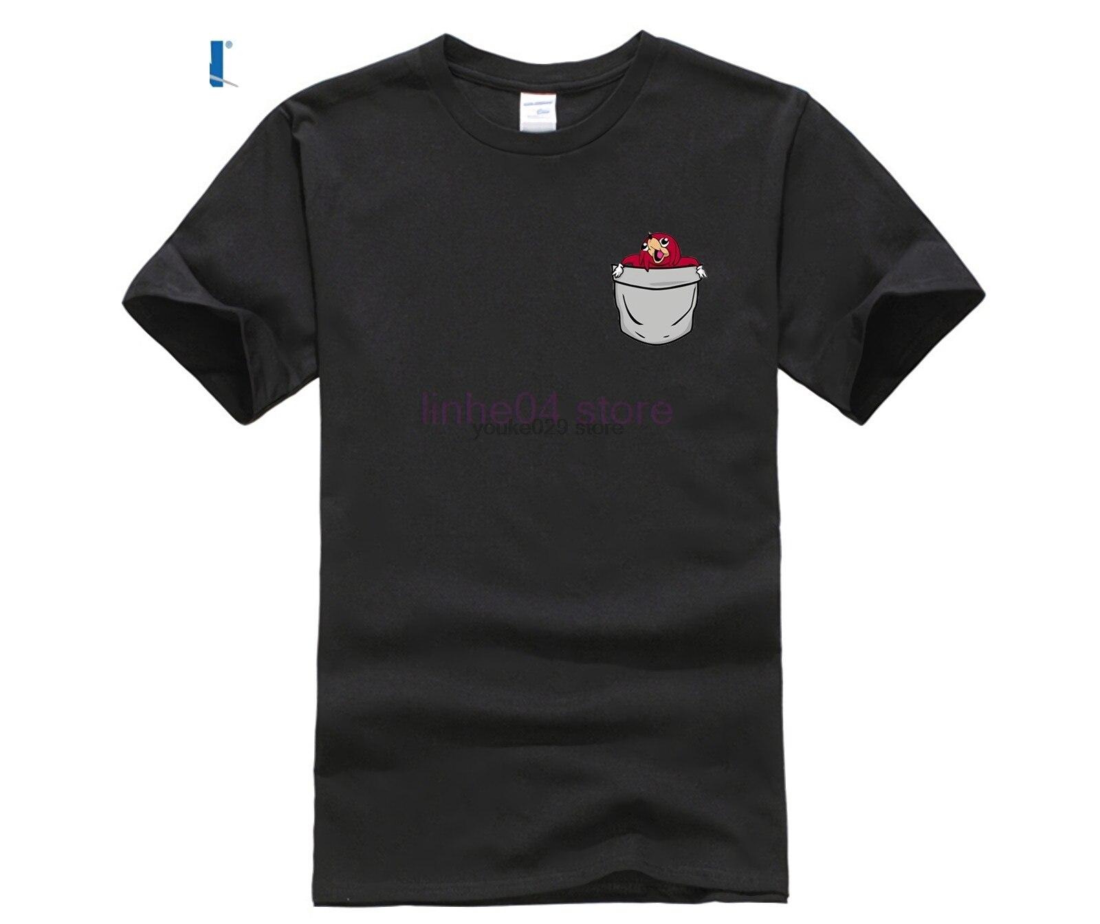 2019 Latest Design Graphic Tshirt Men Uganda Knuckles Pocket T Shirt Plus Size Raglan Sleeve O-neck New Fashion Summer Tops Tees