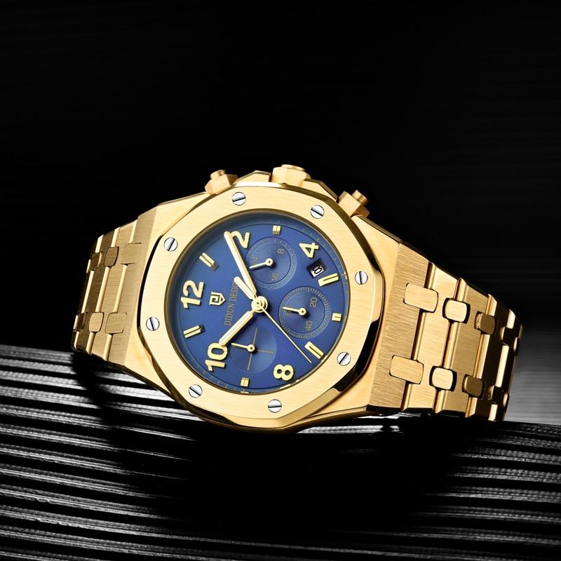 DIDUN Men Watch Top Brand Luxury Quartz Digital  Watch Men  Male Fashion Business Watch Shockproof 30m Waterproof Wristwatch