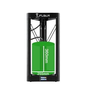 Image 3 - FLSUN QQ S PRO 3D מדפסת במהירות גבוהה גדול הדפסת גודל 255*360mm kossel דלתא 3d Printer אוטומטי פילוס מגע מסך