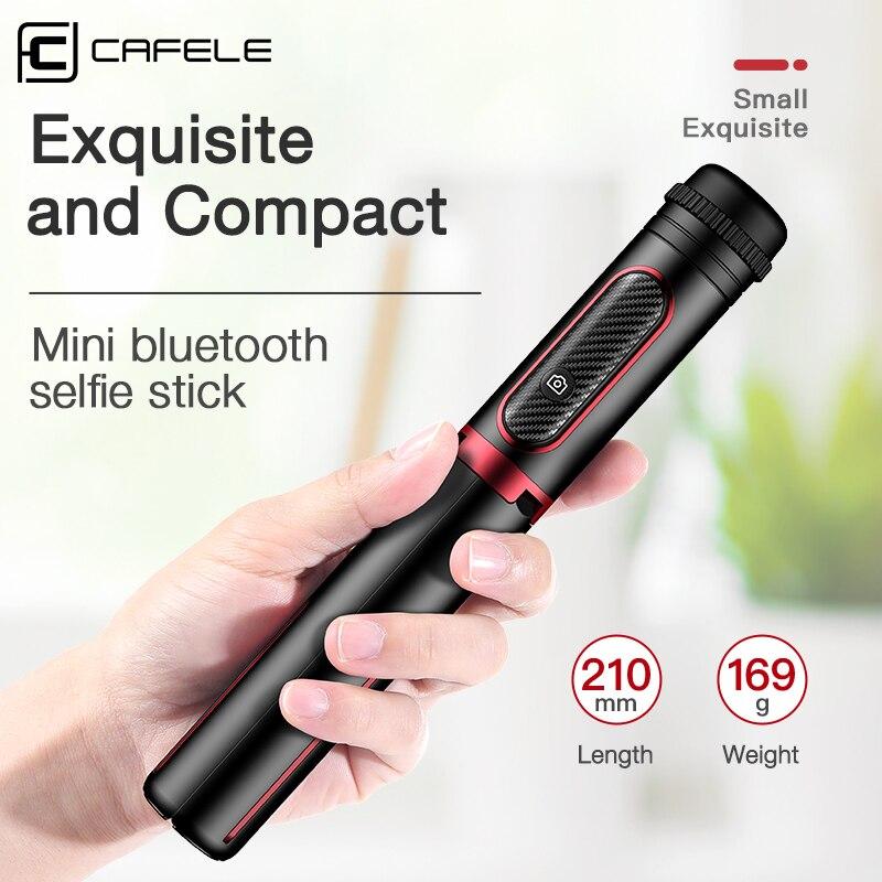 Cafele 3 in 1 Drahtlose Bluetooth Selfie Stick Gimbal Stabilisator Faltbare Handheld Stativ Einbeinstativ mit Fernbedienung für Telefon