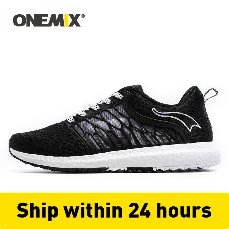 ONEMIX Uni Running Shoes Breathable Mesh Men Athletic Shoes Super Light Outdoor Women Sports Shoes Walking Jogging Shoes