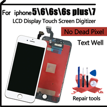 AAA Original Color Screen LCD For iPhone 5 6 6s 6SP 7 LCD Display Assembly Digitizer No Dead Pixel With 3D Touch Replacement LCD