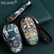 Lederen Auto Remote Key Cover Case Houder Bescherm Voor Peugeot 301 308 308S 408 2008 3008 4008 5008 Auto accessoires Sleutel Case