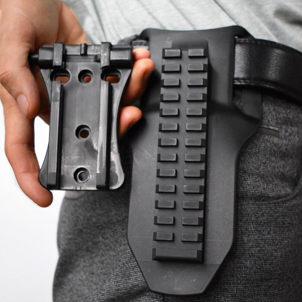 Universal arma coldre cinto paddle liberação rápida arma coldre plataforma tático ajustável coldre adaptador para glcok 17/usp/m9/p22