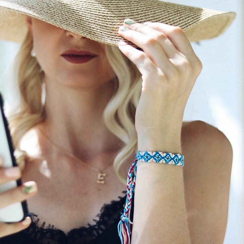 2019 Vintage Charm Bracelets Fashion Jewelry New Bohemian Rope Braided Bracelet For Women Men Femme Woven Friendship Bracelet