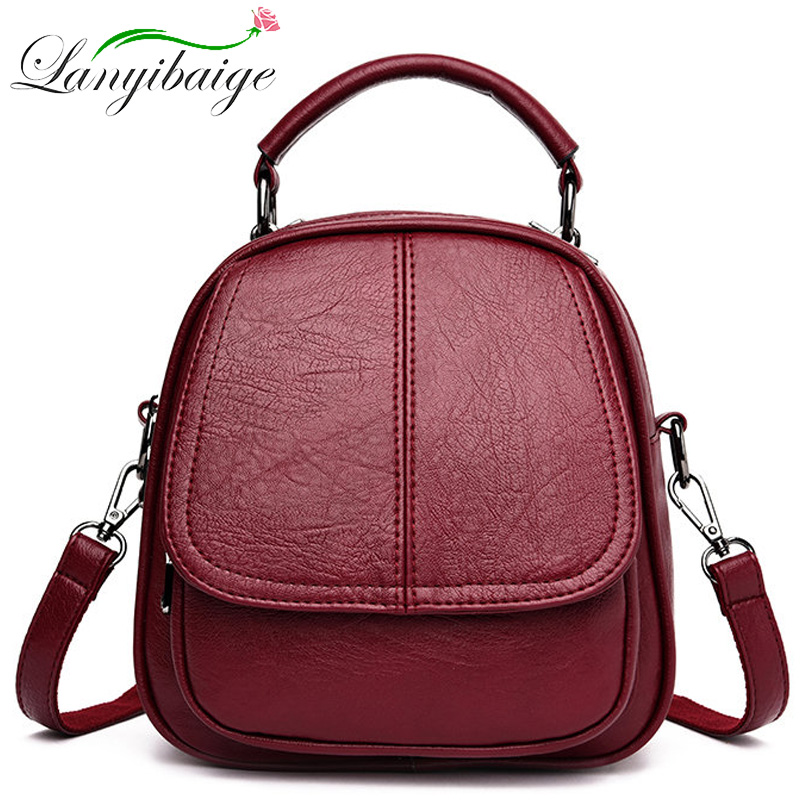 Fashion Ladies Leather Backpack Luxury Women Travel Backpack Mochilas Mujer Backpacks For Girls School Anti Theft Shoulder Bags