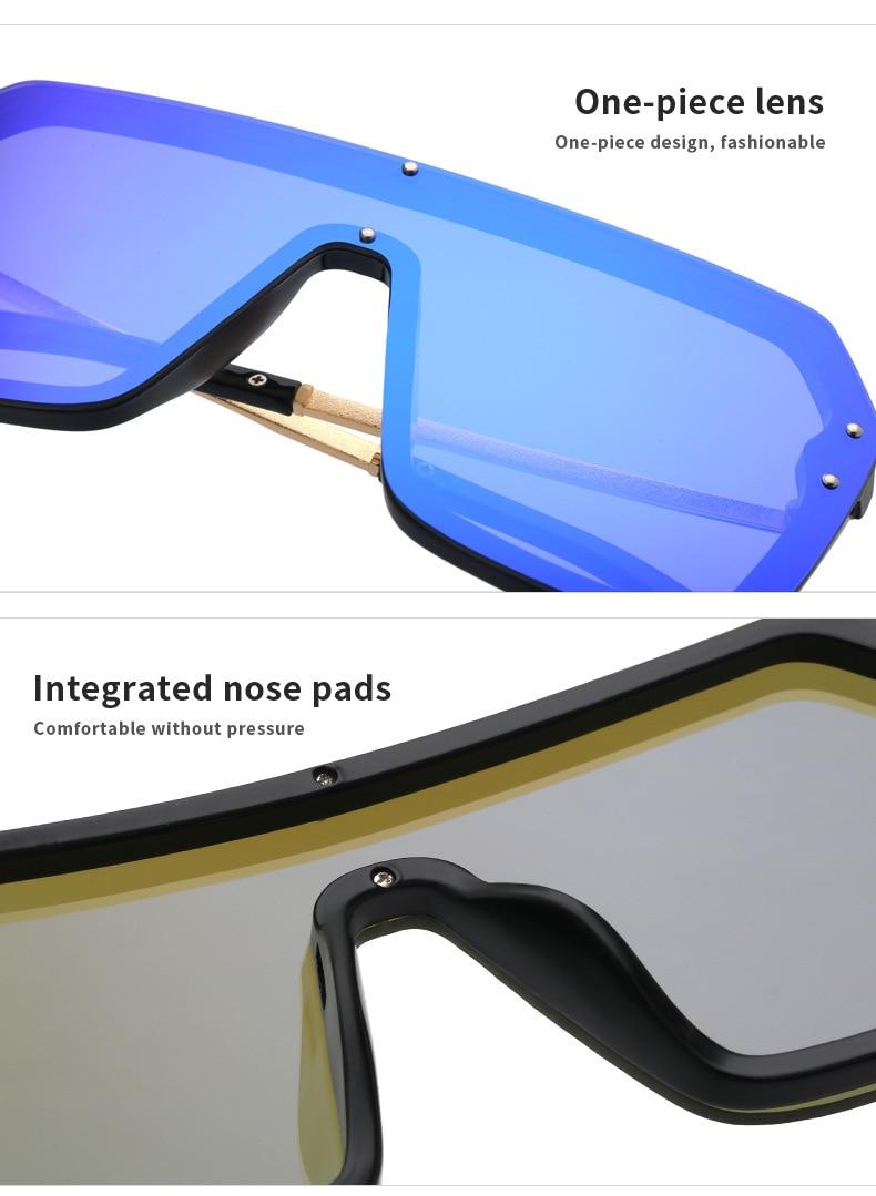 Luxury Brand Women's Sunglasses 2021 Trend One-Piece Lens Rimless Sunglass Female Designer Retro Sun Glasses For Women Gradient (16)