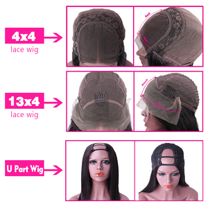 Image 3 - Mstoxic 13×4 Lace Front Human Hair Wigs Brazilian Straight U Part Human Hair Wig 4x4 Closure Wig Remy Hair 360 Lace Frontal Wig