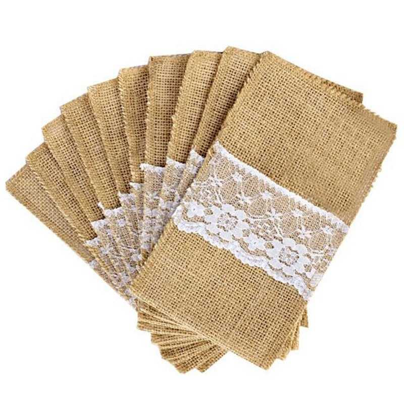 shabby chic easter decor on sale.htm css 100pcs jute linen cutlery holder vintage shabby chic jute lace  cutlery holder vintage shabby chic jute