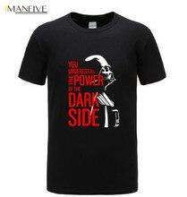 aq Star Wars T Shirt Darth Vader Dark Side Power Movie Tshirts For Men Star Wars Yoda Last Jedi Battle T-Shirt Starwars Print 3D недорого