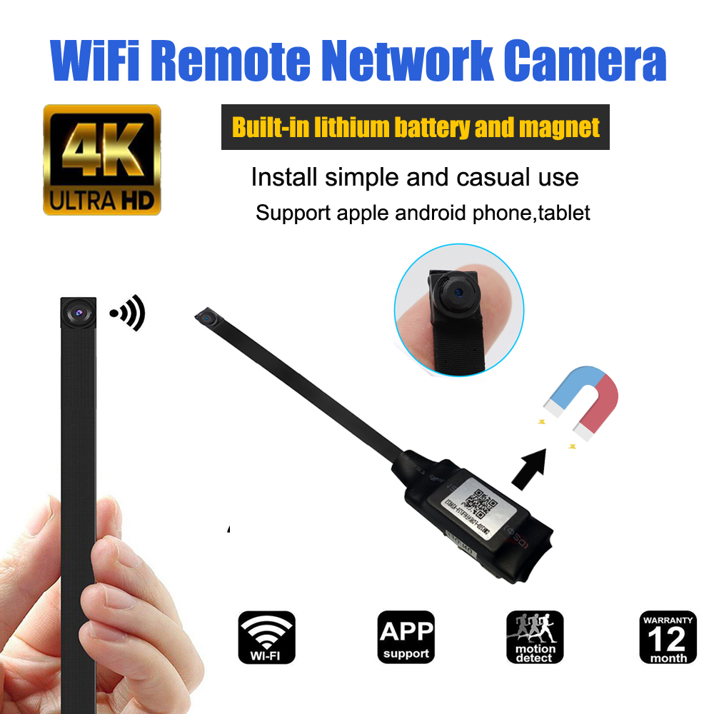 1080P DIY Portable Magnet WiFi IP Mini Camera P2P Micro Mini Camcorder Video Recorder Support Remote View Hidden TF Card