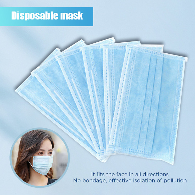 10pcs Dustproof Disposable Mouth Masks Earloop Face Mouth Nose Cover Masks Protection Anti Dust Flu Pollution 1