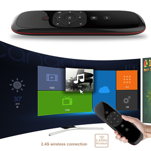 Image 4 - W2 2.4G אוויר עכבר אלחוטי מקלדת עם משטח מגע עכבר אינפרא אדום שלט רחוק Wechip אנטי איבד פונקציה תומך קול קלט