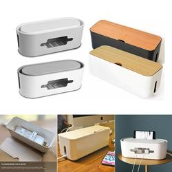 Cable Storage Box Power Strip Wire Case Anti Dust Charger Socket Organizer Network Line Storage Bin Charger Wire Management