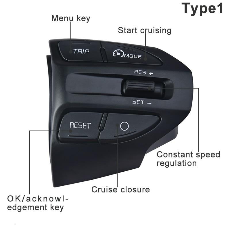 Image 3 - ESPEEDER Car Steering Wheel Button Bluetooth Phone Cruise Control Volume For KIA K2 RIO 2017 2018 RIO X LINE Car AccessoriesSteering Wheels & Steering Wheel Hubs   -