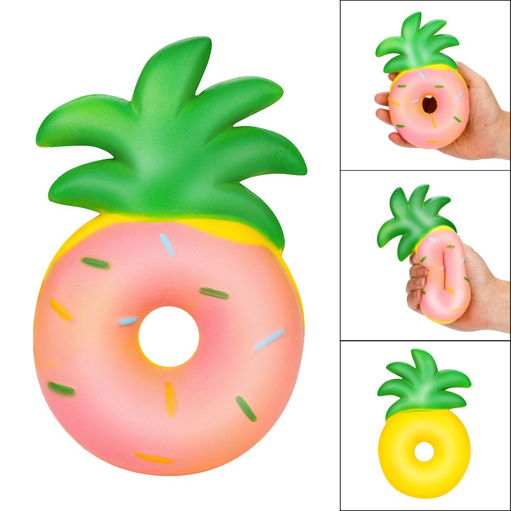 Squishy Doughnut Pineapple Rising Squeeze Charm Kawaii Toy Stress Reliever Toys Children Fun Playing Game Toy Baby Boy Girl Toys