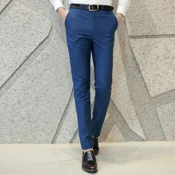 Мужские классические брюки для отдыха LEFT ROM, деловые однотонные брюки высокого качества, 2019
