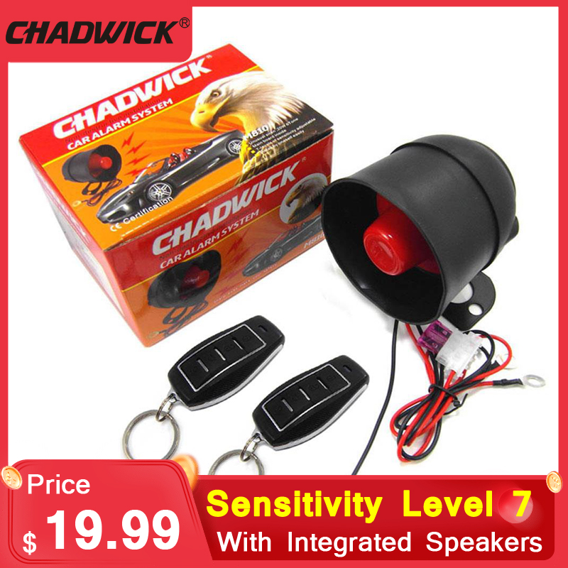 CHADWICK 810-8208 7 Sensitivity Levels 2PCS Remote Control Alarm System Car Moto Alarm Device Motorcycle Vibration Alarm