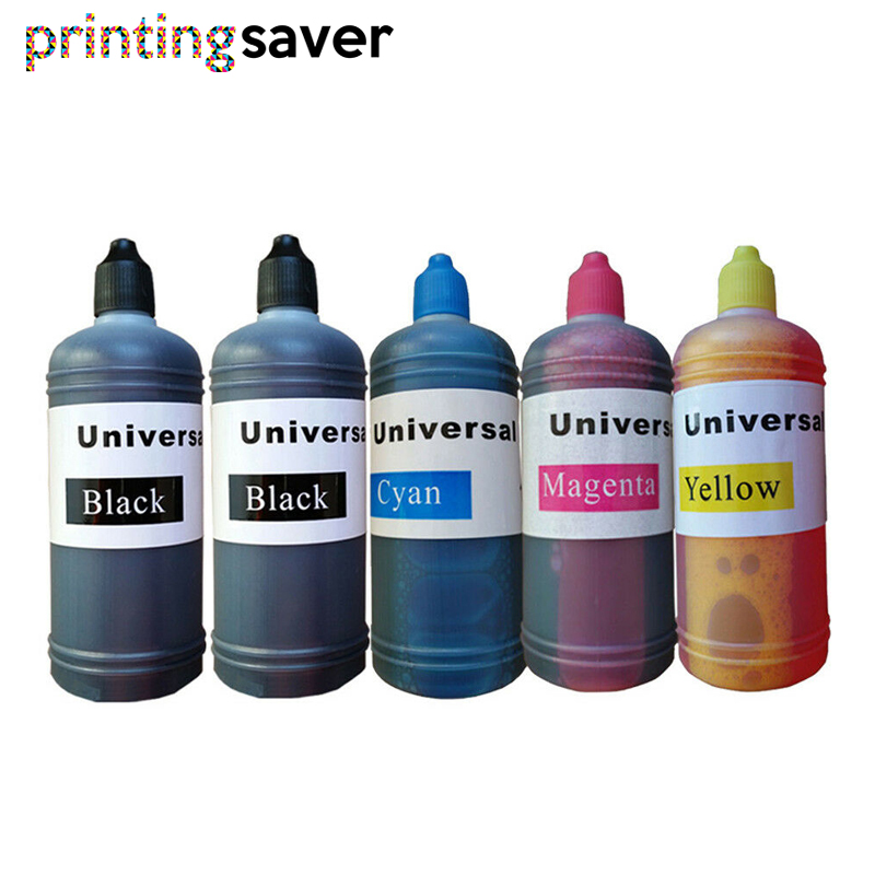 5pcs Universal 4 Color Dye Ink For HP 100ML For HP Premium Dye Ink General For HP Printer Ink All Models