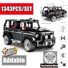 New Moc G-Class SUV G500 Off Road AWD Vehicles Car Fit Legoings Technic Car Model Building Blocks Bricks Toy Kid Gift Boys lepin 23003 3643pcs technic moc rc jeep wild off road vehicles set educational building blocks brick toy for children model gift