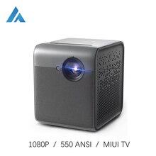 Fengmi الذكية لايت DLP جهاز عرض صغير محمول 1080P كامل HD 550 ANSI MIUI TV LED متعاطي المخدرات مع واي فاي أندرويد ثلاثية الأبعاد الفيديو