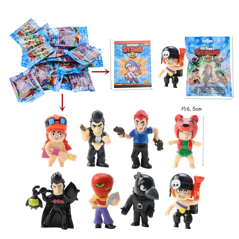 Game-Figure Toys Card Crow Shelly Mortis Brock Jessie El-Primo Brawl Stars Kid Gift