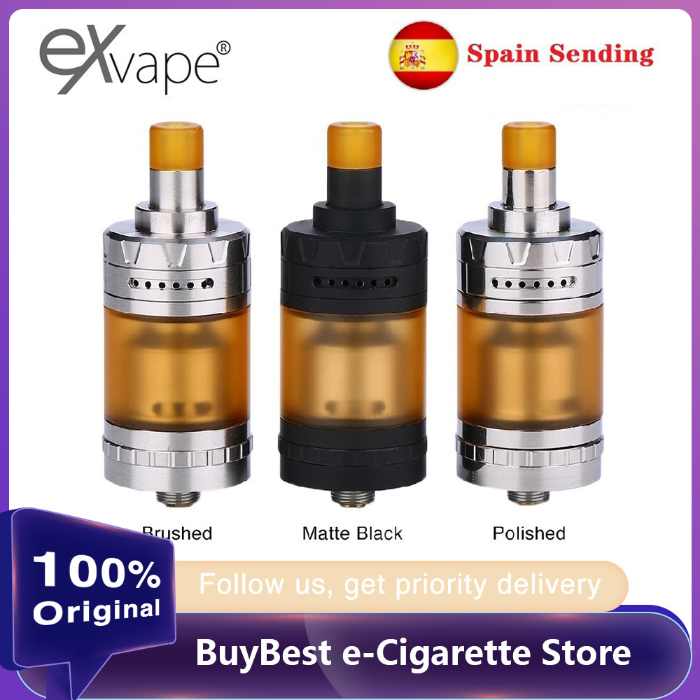 Hot Sale Exvape Expromizer V4 MTL RTA Atomizer 23mm Electronic Cigarette Tank With Single Coil Building Vape Vaporizer Vs Zeus X